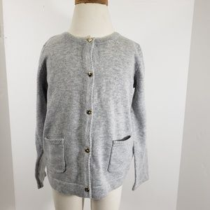 Gymboree Girls Gray Cardigan with Gold Buttons 3T